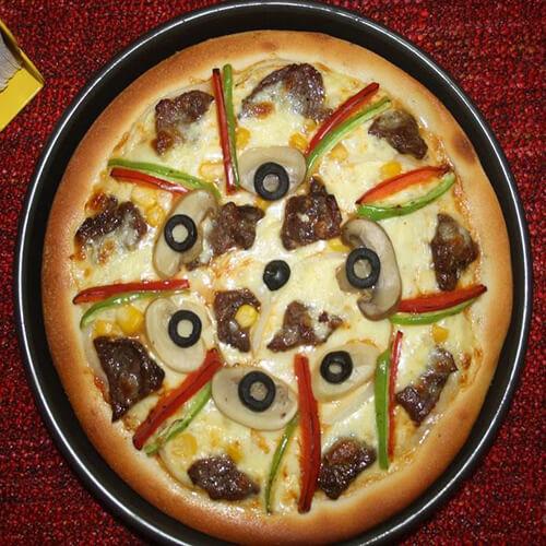 黑胡椒牛排披萨