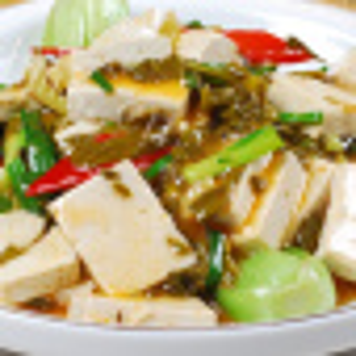 简单的炒豆腐