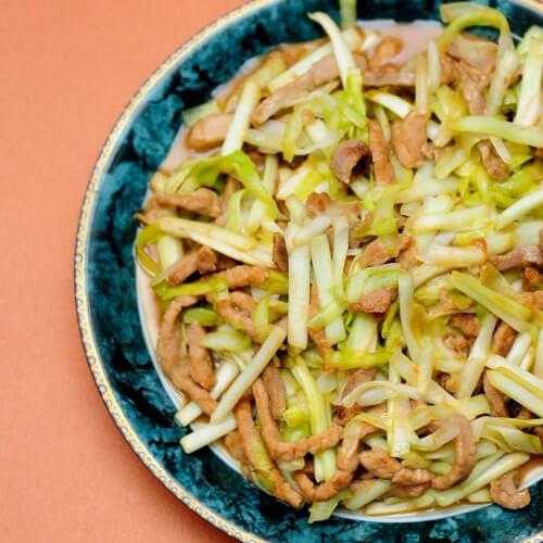 美美厨房之韭黄炒肉丝