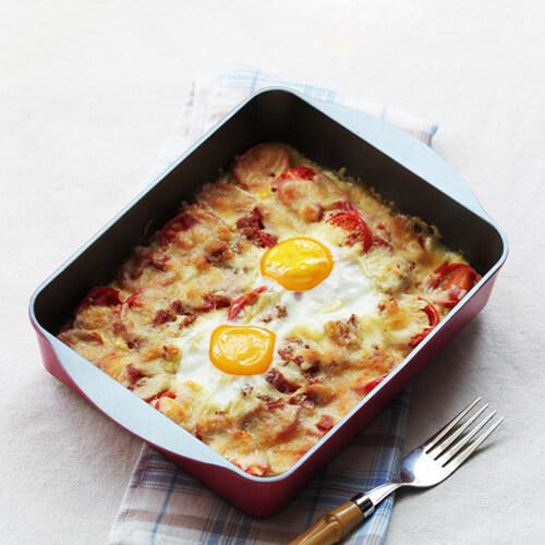 马苏里拉芝士焗鸡蛋