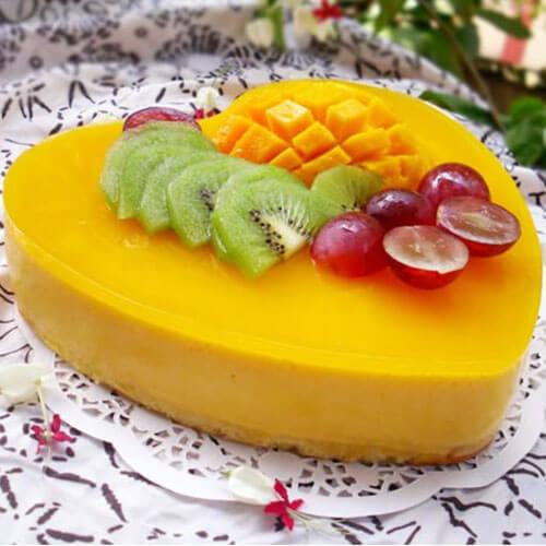 美味的芒果流心芝士蛋糕