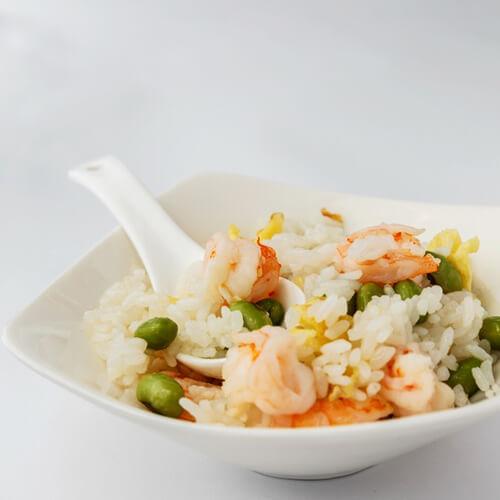 虾仁青豆饭团