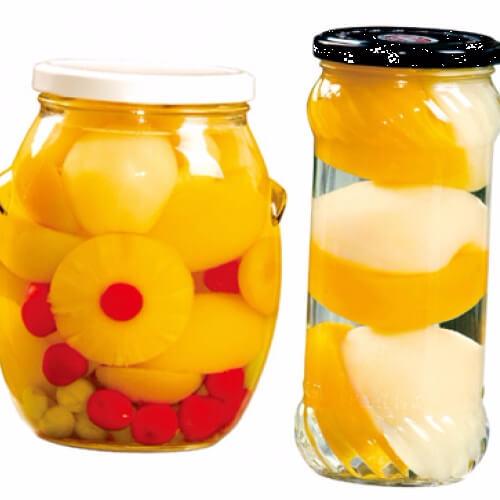 夏日里的水果罐头