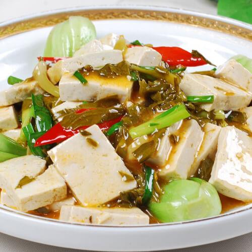 四季豆炒豆腐