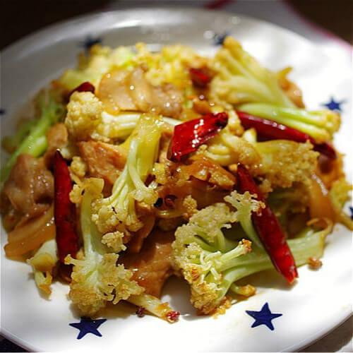 白菜炒白花菜