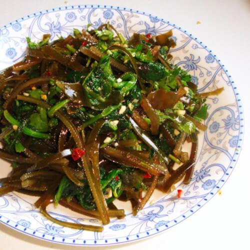 菠菜拌海带丝