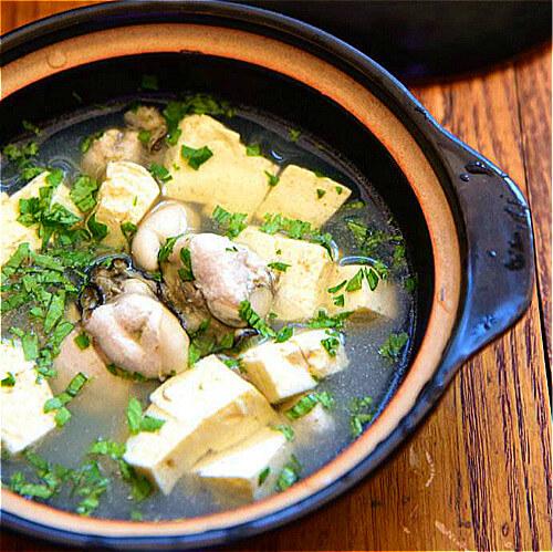高蛋白海蛎子炖豆腐