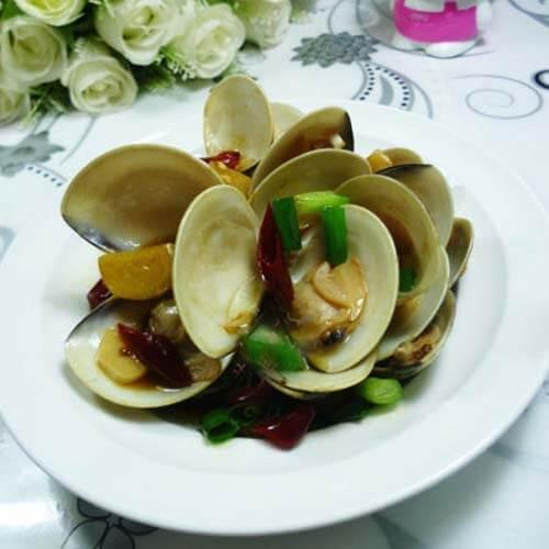 美味的清炒文蛤