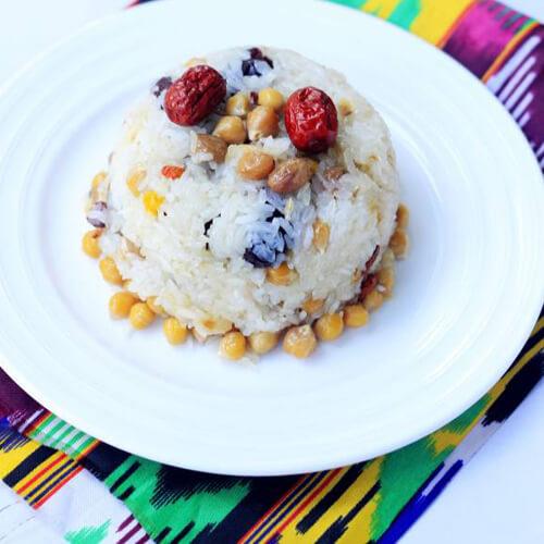 红枣鹰嘴豆糯米饭