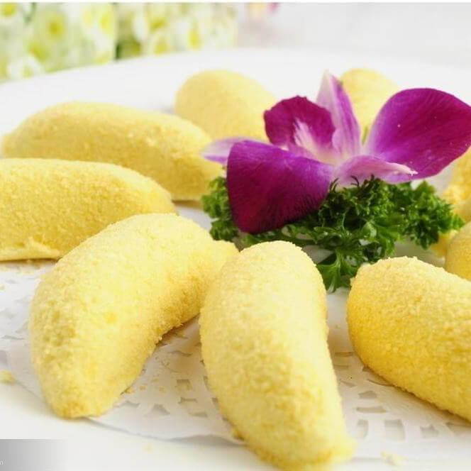 桂花牛奶蒸香蕉