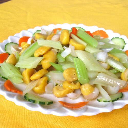 芹菜炒三鲜