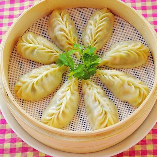 番茄鸡蛋虾皮蒸饺
