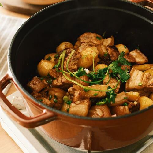 酱香肉末小土豆