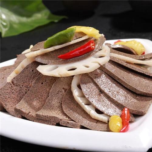 剁椒莲菜拌猪肝
