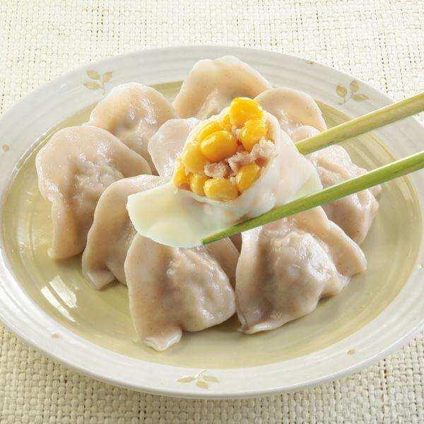 玉米粒三鲜肉饺子
