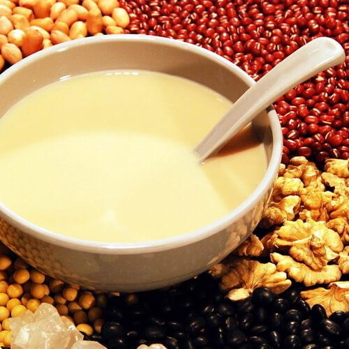 果仁月饼熟豆豆浆