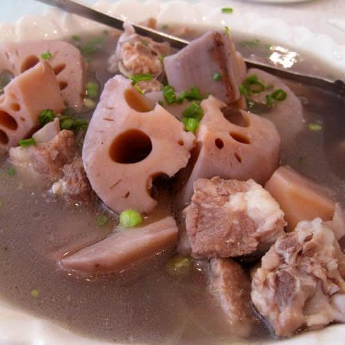 虫草花莲藕骨头汤