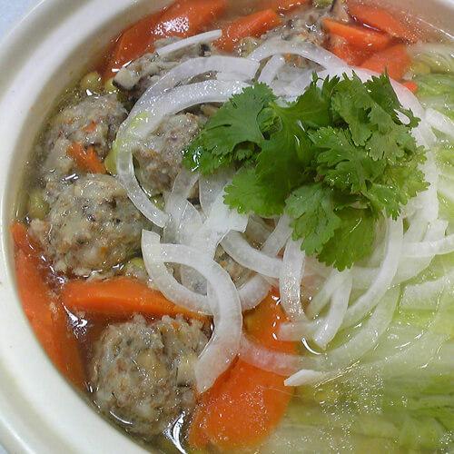 白菜鸡蛋粉丝汤
