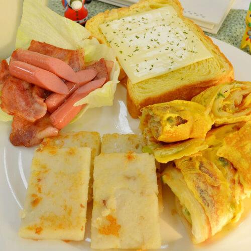 美味的爱心拼盘早餐2