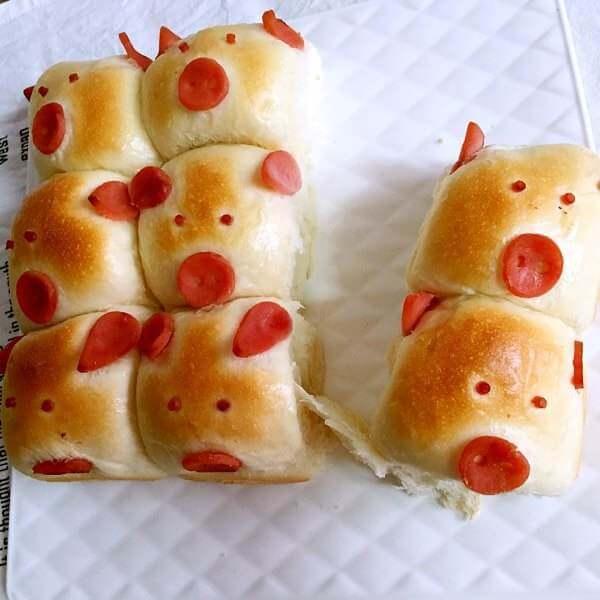 萌萌的小猪面包