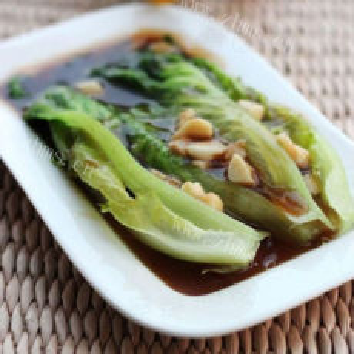 清爽营养蒜沫蚝油生菜