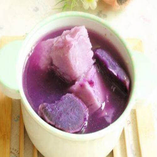 牛奶紫薯糖水