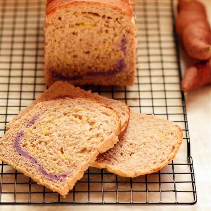 香甜红薯挤挤面包