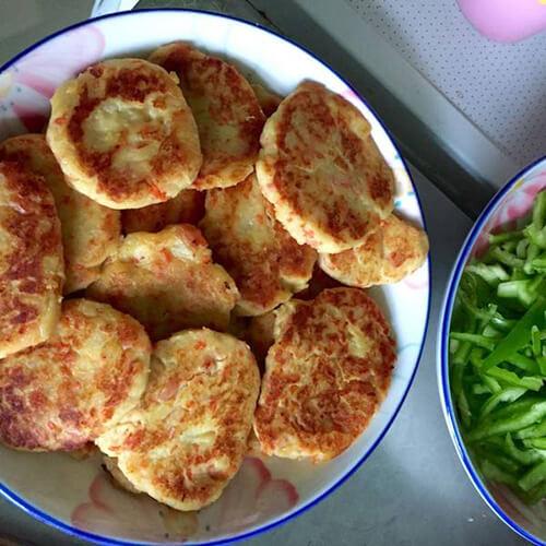 健康火腿洋葱早餐饼