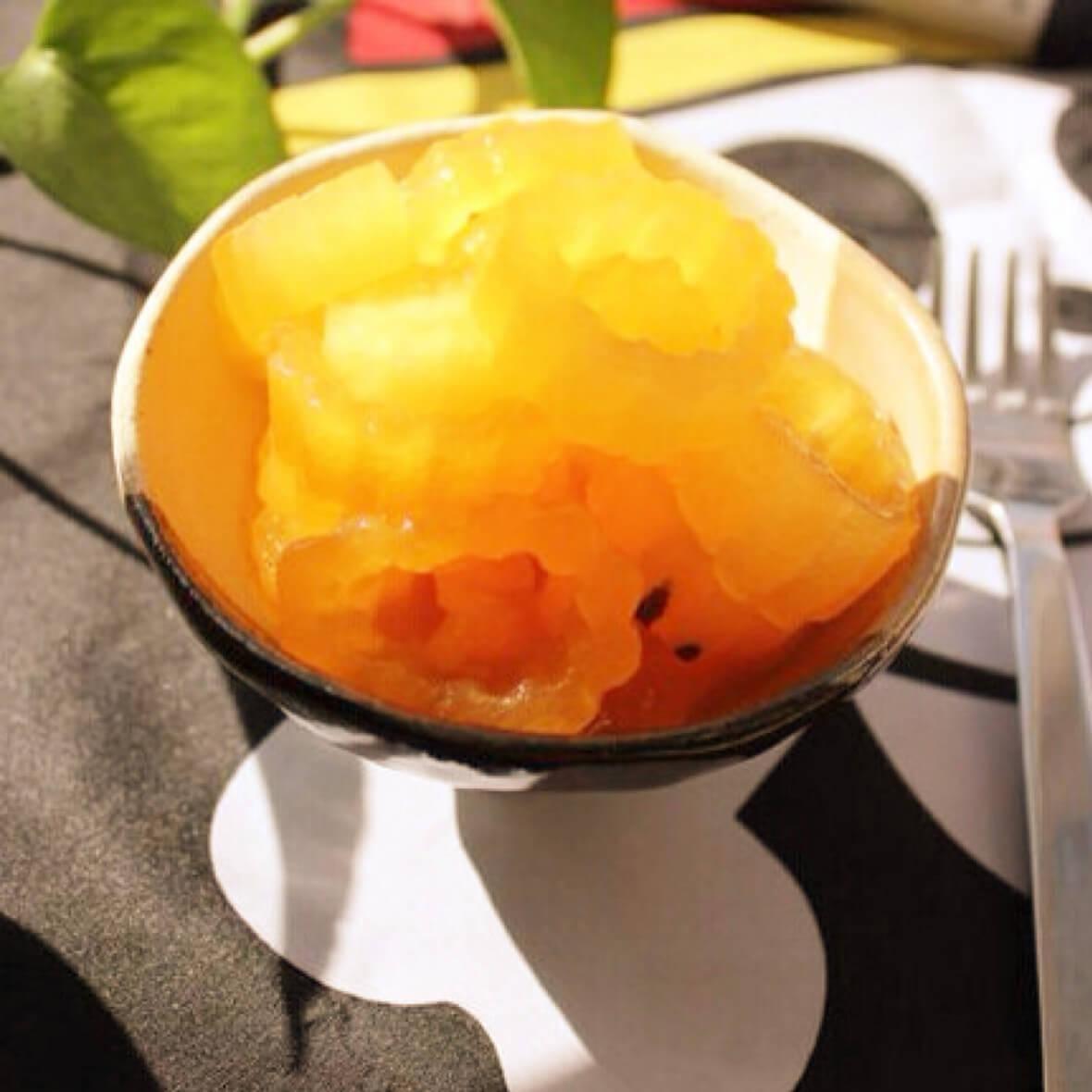 甜脆橙汁冬瓜