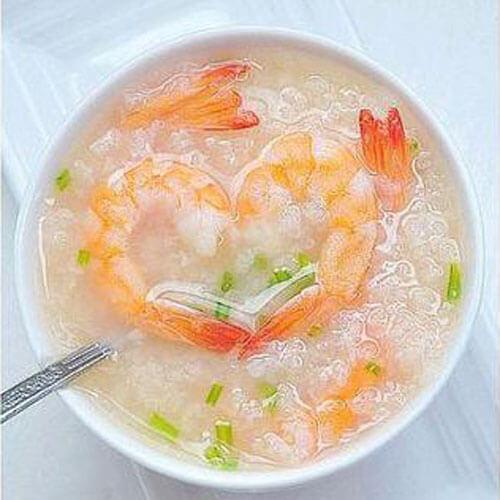 白菜虾仁粥
