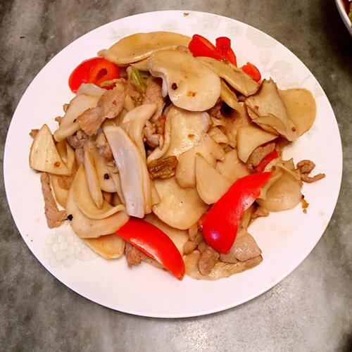 杏鲍菇辣炒肉片