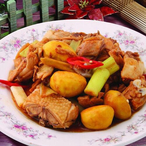 砂锅蚝油栗子鸡