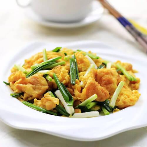 鲜嫩虾皮炒鸡蛋
