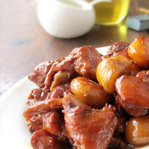 好吃的砂锅蚝油栗子鸡