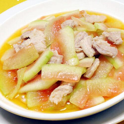 独特的西瓜皮炒海贝