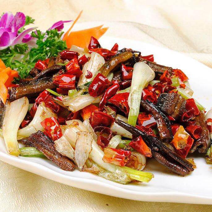 紫苏炒黄鳝