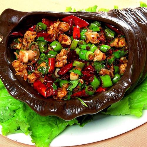 香辣石螺肉