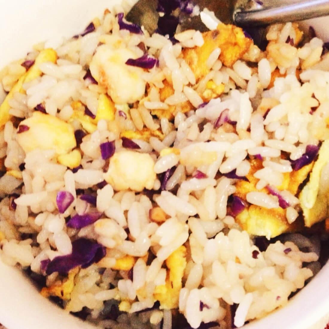 鸡蛋紫甘蓝炒饭