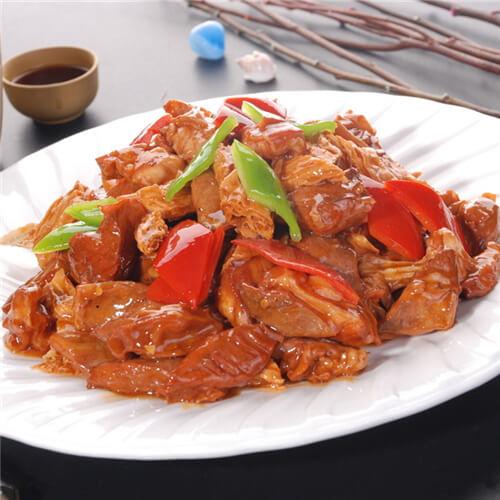 香葱瘦肉炒支竹