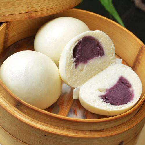 小麦紫薯包