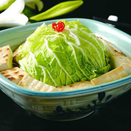 健康营养的白菜炖豆腐