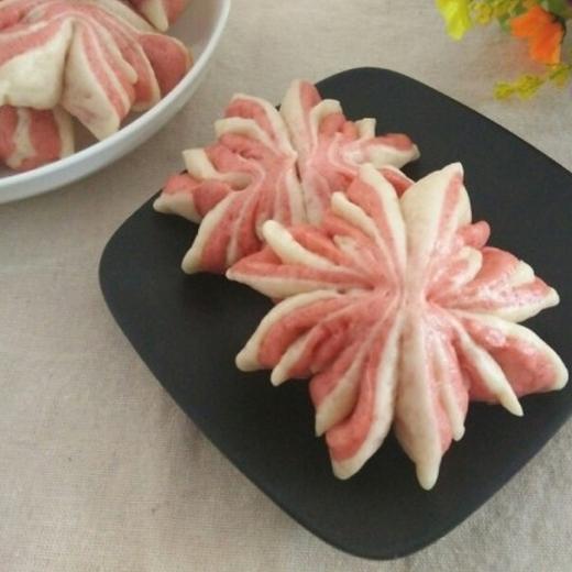 粉红菊花花卷