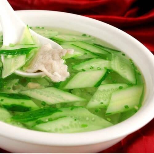 黄瓜瘦肉汤