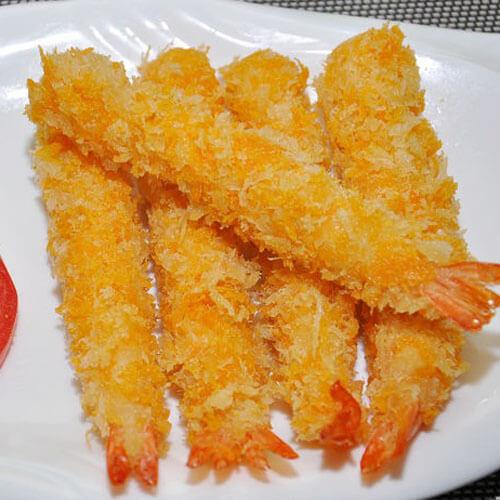 好吃的橙汁面包虾