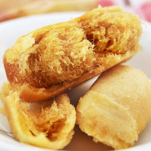 金灿灿的金丝肉松饼