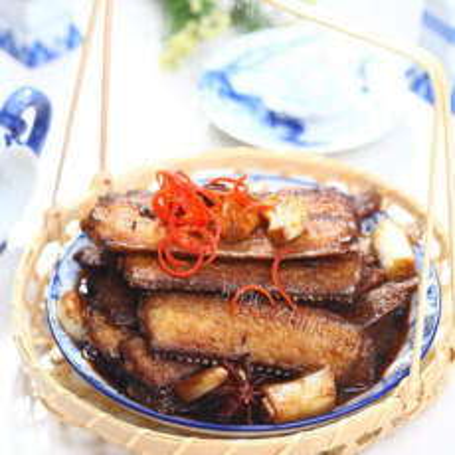 肉鲜味美的八带鱼红烧肉