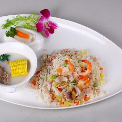 田园海鲜炒饭