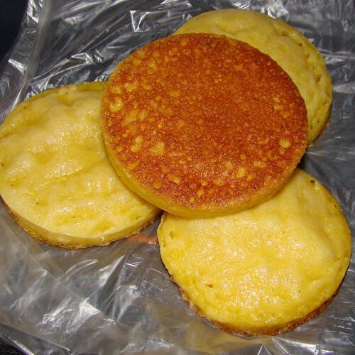 发面玉米面饼