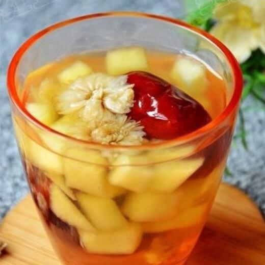 菊花红枣水果茶