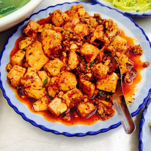 味道不错的麻辣豆腐